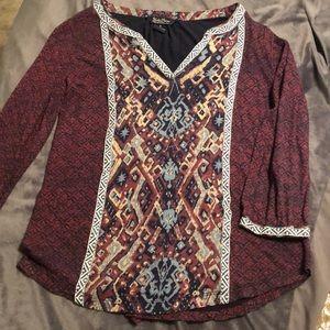 Lucky brand maroon tunic